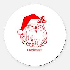 I believe in Santa Claus Round Car Magnet