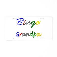 Bingo Grandpa Aluminum License Plate