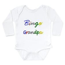Bingo Grandpa Long Sleeve Infant Bodysuit