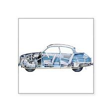 """Saab 96 Square Sticker 3"""" x 3"""""""
