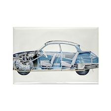 Saab 96 Rectangle Magnet