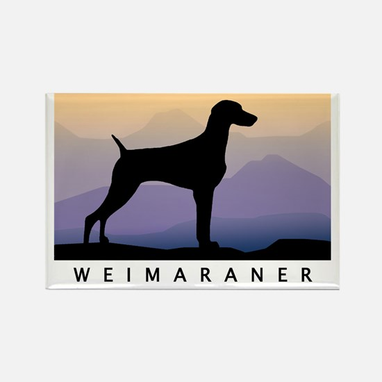 weimaraner mt sunrise wdtx Magnets