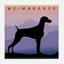Unique Woof dog designs Tile Coaster
