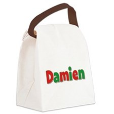 Damien Christmas Canvas Lunch Bag