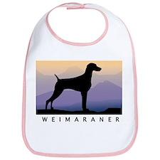 Cute Weimaraner art Bib