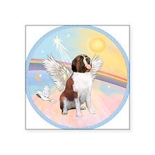St. Bernard Angel Dog Rectangle Sticker
