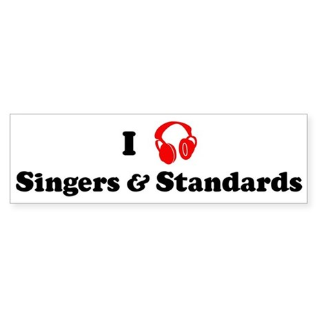 Singers & Standards music Bumper Sticker