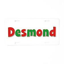 Desmond Christmas Aluminum License Plate