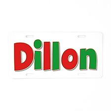Dillon Christmas Aluminum License Plate