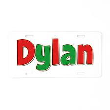 Dylan Christmas Aluminum License Plate