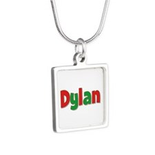 Dylan Christmas Silver Square Necklace