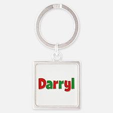 Darryl Christmas Square Keychain