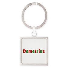 Demetrius Christmas Square Keychain