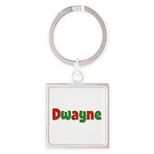 Dwayne Christmas Square Keychain