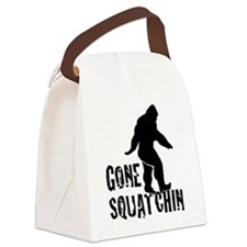 Gone Squatchin print Canvas Lunch Bag