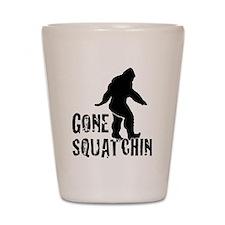 Gone Squatchin print Shot Glass