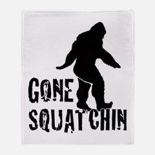 Gone Squatchin print Throw Blanket