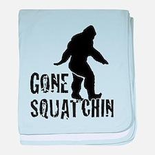 Gone Squatchin print baby blanket