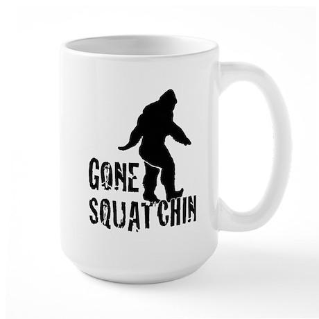 Gone Squatchin print Large Mug