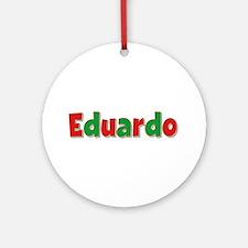 Eduardo Christmas Round Ornament