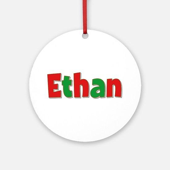 Ethan Christmas Round Ornament
