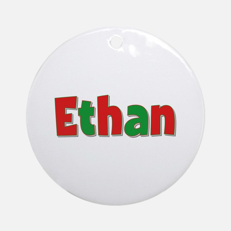 Ethan Christmas Round Ornament