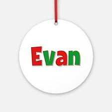 Evan Christmas Round Ornament