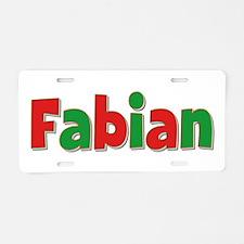 Fabian Christmas Aluminum License Plate