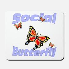 Social Butterfly Mousepad