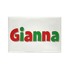 Gianna Christmas Rectangle Magnet