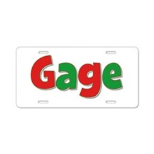 Gage Christmas Aluminum License Plate