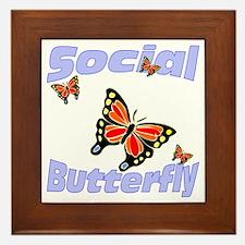 Social Butterfly Framed Tile
