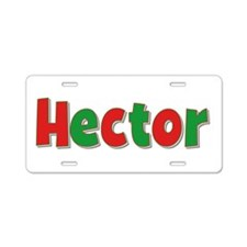 Hector Christmas Aluminum License Plate