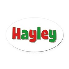 Hayley Christmas Oval Car Magnet