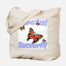 Social Butterfly Tote Bag