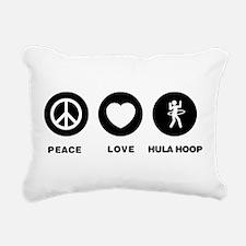 Hula Hoop Rectangular Canvas Pillow