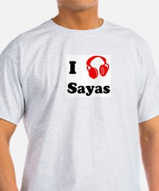 Sayas music Ash Grey T-Shirt