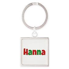 Hanna Christmas Square Keychain