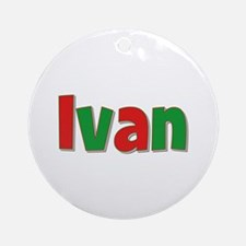 Ivan Christmas Round Ornament