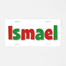 Ismael Christmas Aluminum License Plate