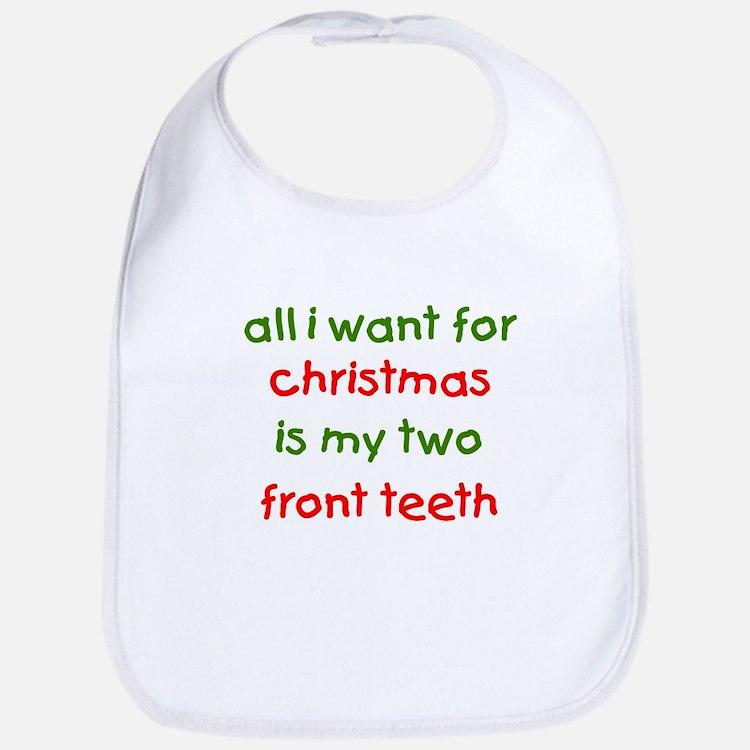 Two Front Teeth for Xmas Bib