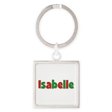 Isabelle Christmas Square Keychain