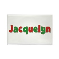 Jacquelyn Christmas Rectangle Magnet