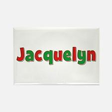 Jacquelyn Christmas Rectangle Magnet