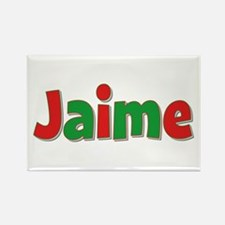 Jaime Christmas Rectangle Magnet