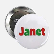 Janet Christmas Button
