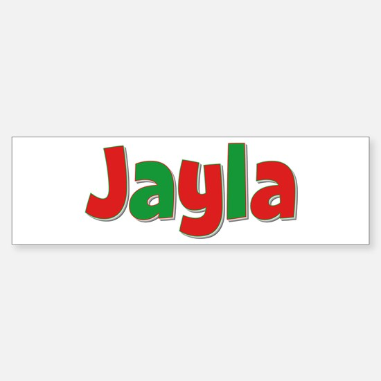 Jayla Christmas Bumper Car Car Sticker