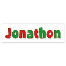 Jonathon Christmas Bumper Bumper Sticker