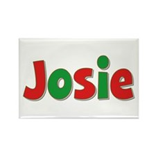 Josie Christmas Rectangle Magnet