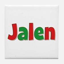 Jalen Christmas Tile Coaster